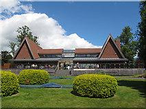 SJ6855 : Queen's Park:terrace cafe by Stephen Craven