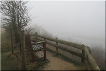 SP9314 : Today the view from this seat is lost in the fog by Chris Reynolds