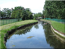 TQ3187 : The New River in Finsbury Park (6) by Mike Quinn