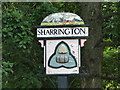 TG0337 : Sharrington village sign (detail) by Adrian S Pye