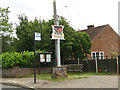 TG0536 : New village sign at Thornage by Adrian S Pye