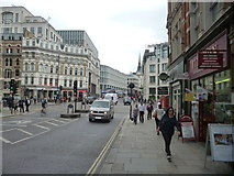 TQ3181 : Fleet Street:  View looking east to Ludgate Circus by Dr Neil Clifton