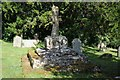 SO6369 : Preaching cross, Knighton on Teme by Philip Halling