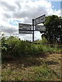 TM1469 : Roadsign on Rishangles Road by Adrian Cable