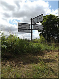 TM1469 : Roadsign on Rishangles Road by Geographer