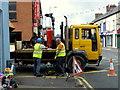 H4572 : Workmen, Campsie Road / Market Street, Omagh by Kenneth  Allen