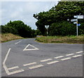 SR9896 : Junction signpost east of Stackpole by Jaggery
