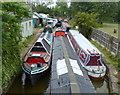 SJ7659 : Malkin's Bank Boatyard along the Trent & Mersey Canal by Mat Fascione