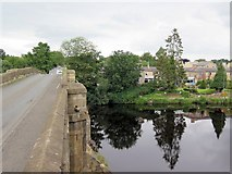 NY9170 : George Hotel from Chollerford Bridge by Andrew Curtis