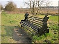 SE3750 : Memorial bench by the Harland Way by Derek Harper