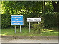 TM1468 : Hall Road sign by Adrian Cable