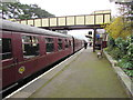 SP0229 : Train at platform 1, Winchcombe railway station by Jaggery