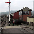 SP0229 : Winchcombe railway station signalbox by Jaggery