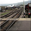 SP0229 : Distant smoke east of Winchcombe railway station  by Jaggery