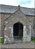 SS6138 : St Michael & All Angels church, Loxhore: porch by Basher Eyre