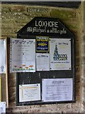 SS6138 : St Michael & All Angels church, Loxhore: porch noticeboard by Basher Eyre