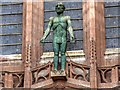 SJ3589 : Statue of the Risen Christ, Liverpool Cathedral by David Dixon