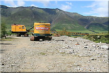 NY3224 : Threlkeld Quarry & Mining Museum - draglines by Chris Allen
