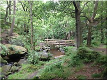 SK2579 : A new bridge in Padley Gorge by Graham Hogg