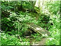 SN6083 : Footbridge on a permissive footpath, Coed y Cwm by Christine Johnstone