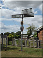TM1170 : Roadsign on Roman Way by Adrian Cable
