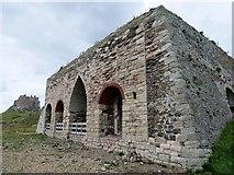 NU1341 : Disused  Lime  Kilns  on  Holy  Island by Martin Dawes