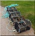 NJ5966 : Lobster Pots, Portsoy by Stanley Howe