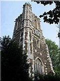 TQ3089 : St. Mary's Tower, Hornsey by Mike Quinn