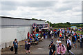 SP6841 : Fast food outlets at Becketts Corner, Silverstone by Ian S