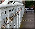 SK5737 : Love padlocks on the Wilford Suspension Bridge by Mat Fascione