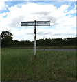 TM1768 : Roadsign on Bedingfield Road by Adrian Cable