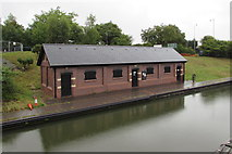 SO9491 : Canalside building in Dudley by Jaggery