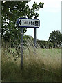 TM2564 : Public Conveniences sign on the A1120 Saxtead Road by Adrian Cable