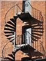 SO8454 : Emergency exit stairway by Philip Halling
