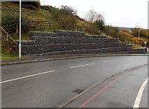 SS8591 : Bank reinforcement,  Ffordd Dysgu, Maesteg by Jaggery