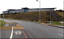 SS8591 : South side of Maesteg School by Jaggery