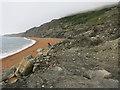 SZ4975 : Beach at Rocken End by Hugh Venables
