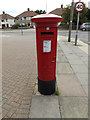 TM1746 : 65, Colchester Road George V Postbox by Geographer