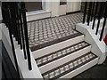 TQ3082 : Tiled steps, Argyle Street, St Pancras, London by Robin Stott