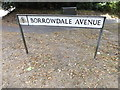 TM1745 : Borrowdale Avenue sign by Adrian Cable