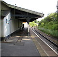 SN1214 : Narberth railway station platform canopy by Jaggery