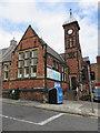 TA0387 : Former Falsgrave Board School entrance by John S Turner