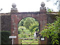 NO7054 : Entrance to Dunninald Walled Garden by Stanley Howe