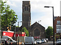 TQ3477 : Tower of Christ Church, Camberwell by Stephen Craven