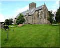 SN1014 : Low-level churchyard weather vane and St Andrew's Church, Narberth  by Jaggery