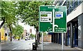 J3373 : Shaftesbury Square direction sign, Dublin Road, Belfast (August 2015) by Albert Bridge