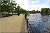 TQ1673 : The Thames Path along the Embankment by Steve Daniels