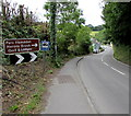 SN1014 : Destinations signs alongside the A478, Narberth by Jaggery