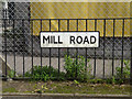 TM1570 : Mill Road sign by Geographer