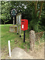 TM1570 : Church Street Postbox, Notice Board & Village sign by Adrian Cable